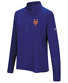 Under Armour Women's New York Mets Passion Half-Zip Pullover