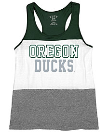 Blue 84 Women's Oregon Ducks Racerback Panel Tank Top