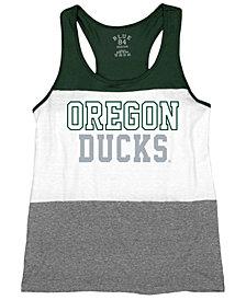 Blue 84 Women's Oregon Ducks Racerback Panel Tank Top