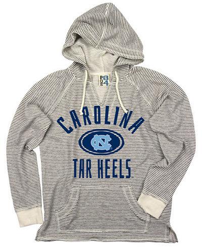 Blue 84 Women's North Carolina Tar Heels Striped Terry Hooded Sweatshirt