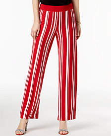 I.N.C. Striped Soft Pants, Created for Macy's