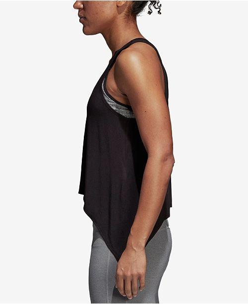 ClimaLite® Tank Black adidas Knot Top 1qxdwnaBR