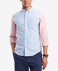 Tommy Hilfiger Men's Jonas Custom-Fit Colorblocked Pocket Shirt, Created for Macy's