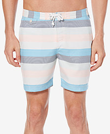 "Original Penguin Men's Striped Volley 6"" Swim Trunks"