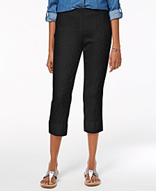 Charter Club Jacquard Textured Capri Pants, Created for Macy's