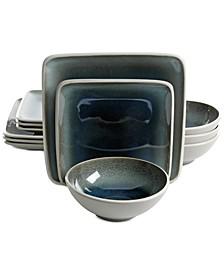 Elite Namastay Blue 12-Pc. Dinnerware Set, Service for 4