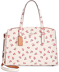 COACH Charlie Carryall with Floral Bloom