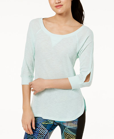 Calvin Klein Performance Cutout-Sleeve Top