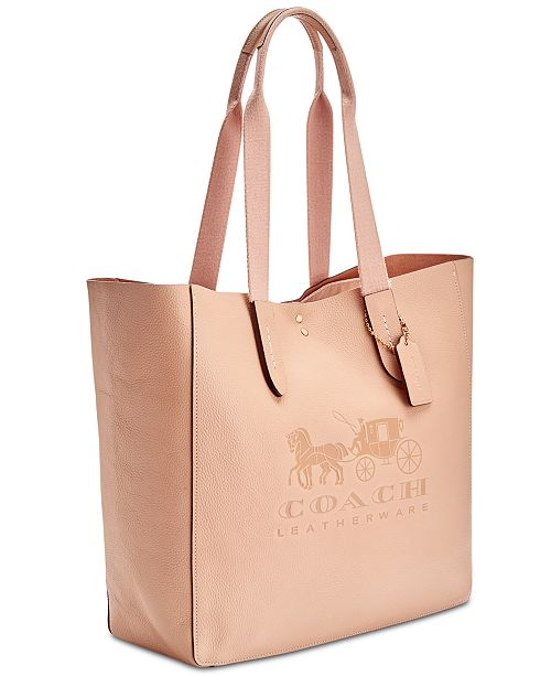 0fd87d4328a COACH Grove Signature Tote in Pebble Leather, Created for Macy s ...