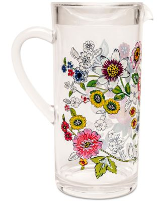 Coral Floral Acrylic Pitcher