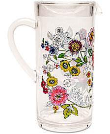 Vera Bradley Coral Floral Acrylic Pitcher