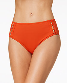 Kenneth Cole Chain Reaction Hardware Bikini Bottoms