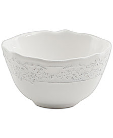 Laurie Gates Madeira White Dipping Bowl