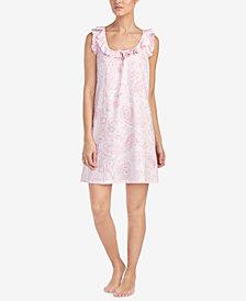 Lauren Ralph Lauren Classic Knits Ruffle-Trim Cotton Nightgown