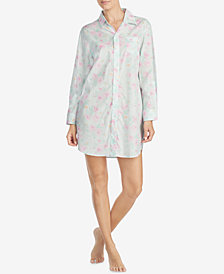 Lauren Ralph Lauren Classic Woven Printed Cotton Sleepshirt