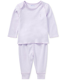 Polo Ralph Lauren Cotton Top & Pants Set, Baby Boys & Girls