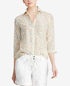 Lauren Ralph Lauren Floral-Print Shirt, Created for Macy's