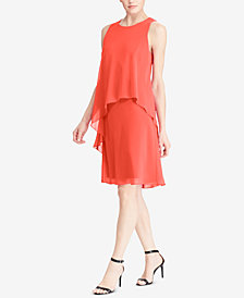 Lauren Ralph Lauren Overlay Shift Dress, Regular & Petite Sizes