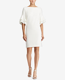 Lauren Ralph Lauren Ruffled Crepe Dress, Regular & Petite Sizes