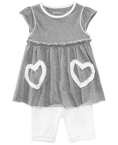 First Impressions Heart Tunic & Shorts Separates, Baby Girls, Created for Macy's