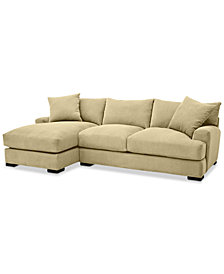 Rhyder 2-Pc. Fabric Sectional with Chaise - Custom Colors, Created for Macy's