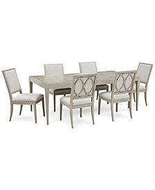 Rachael Ray Cinema Expandable Dining Furniture, 7-Pc. Set (Rectangular Dining Table & 6 Side Chairs)