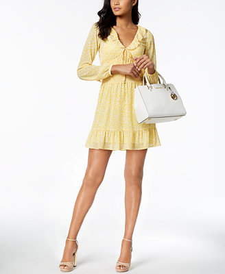 Petite Smocked Mini Dress, Created For Macy's by Michael Michael Kors