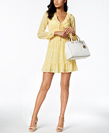 MICHAEL Michael Kors Petite Smocked Mini Dress, Created for Macy's