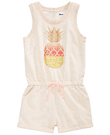 Epic Threads Pineapple-Print Romper, Big Girls, Created for Macy's