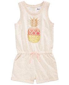 Epic Threads Pineapple-Print Romper, Big Girls, Created for Macy's