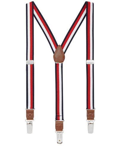 Tommy Hilfiger Striped Suspenders, Big Boys