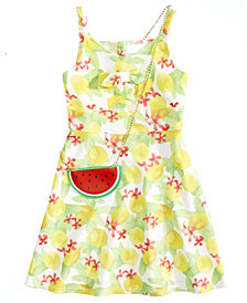 Us Angels Tropical Print Sundress, Big Girls