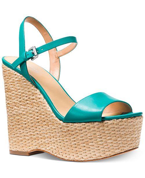 81d27d75667 Michael Kors Fisher Wedge Sandals   Reviews - Sandals   Flip Flops ...