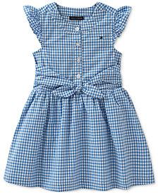 Tommy Hilfiger Gingham Cotton Dress, Baby Girls