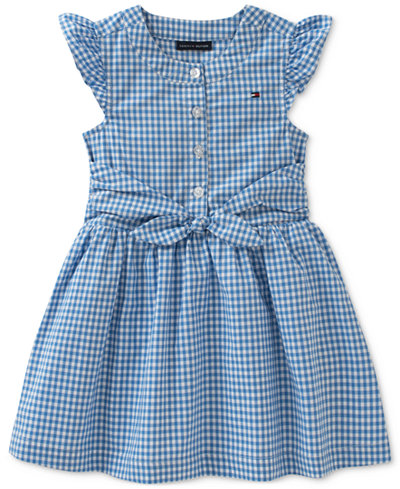 Tommy Hilfiger Gingham Cotton Dress, Baby Girls