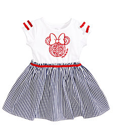 Minnie Mouse Graphic-Print Dress, Baby Girls