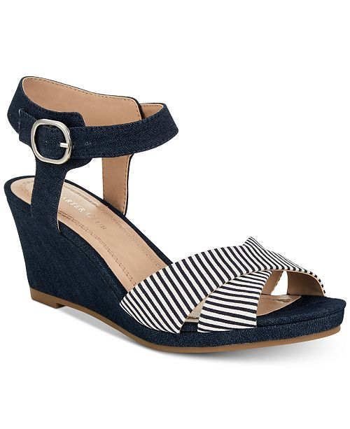 6f235b678978 Charter Club Sonome Wedge Sandals