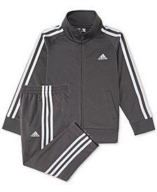 Baby Boys 2-Pc. Three-Stripe Track Suit