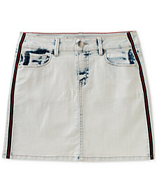 Calvin Klein Side Tape Denim Skirt, Big Girls