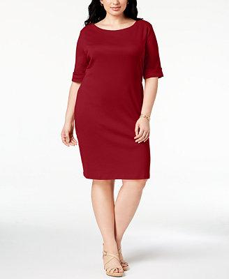 Plus Size T Shirt Dress, Created For Macy's by Karen Scott