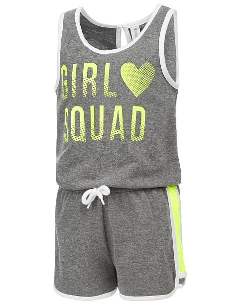 Ideology Graphic-Print Romper, Little Girls, Created for Macy's