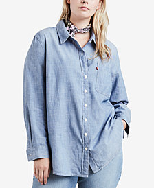 Levi's® Plus Size Plaid Boyfriend-Fit Shirt
