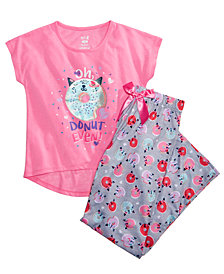 Max & Olivia 2-Pc. Graphic-Print Pajama Set, Little & Big Girls