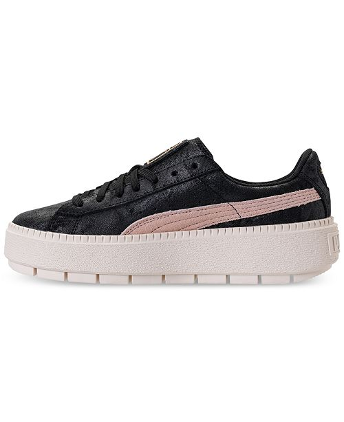 d4db6c1e19e ... Puma Women s Suede Platform Trace Shimmer Casual Sneakers from Finish  Line ...