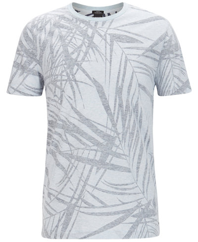 BOSS Men's Leaf-Print T-Shirt