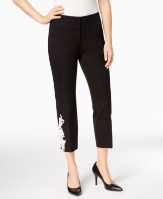 Appliqué Ankle Pants, Created for Macy's