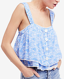 Free People Sweet Caroline Printed Tiered Top