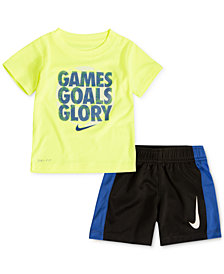 Nike 2-Pc. Games-Print T-Shirt & Shorts Set, Little Boys
