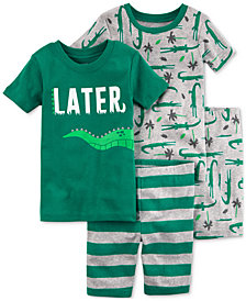 Carter's 4-Pc. Alligator Cotton Pajama Set, Little Boys & Big Boys