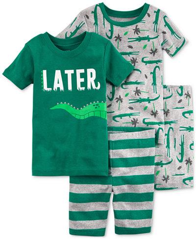Carter's 4-Pc. Alligator Cotton Pajama Set, Little Boys & Big Boys